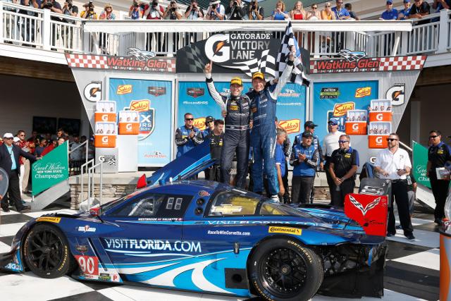 Richard Westbrook moved the Spirit of Daytona car into the lead on a late restart (Courtesy of IMSA)