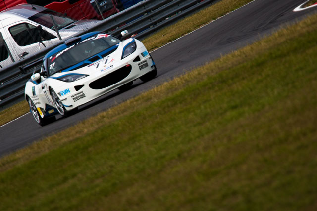 ISSY Racing's Lotus Evora GT4 overcame a torrid season so far to take victory in GT4. (Credit: Nick Smith)