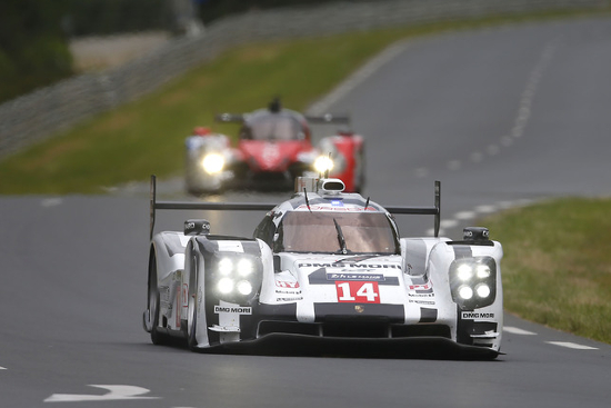 Between them the drivers of the #14 919 Hybrid have 26 Le Mans starts (Credit: Porsche AG)