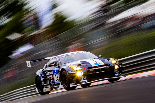 The Schulze Nissan found trouble on the Nordschleife (Credit: Tom Loomes)