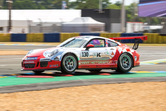 Barker beat a combined field of French and British Carrera Cup racers (Credit: Alexis Goure Photographe)