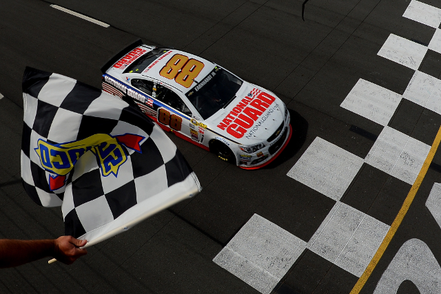 A late twist handed Dale Earnhardt Jr. his second win of the year (NASCAR Via Getty Image)