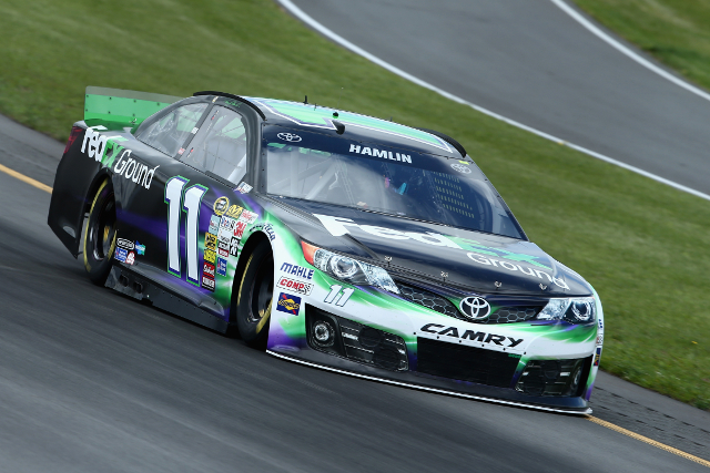 Hamlin claimed a third career Pocono pole (Credit: NASCAR via Getty Images)