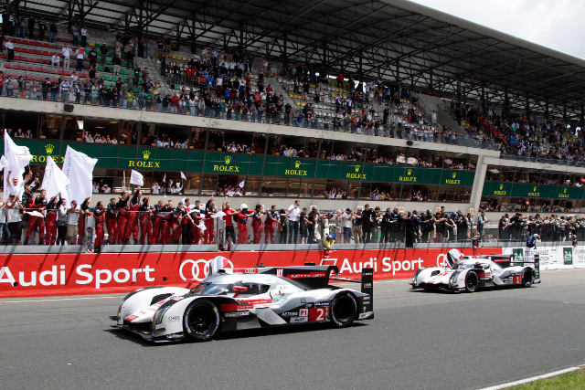 Audi recorded a 1-2 finish at the end of an epic race (Credit: Audi Motorsport)