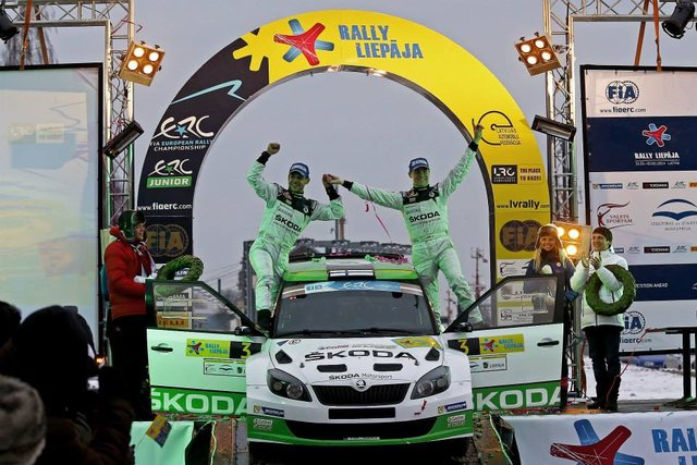 Lappi takes first victory of the season (Photo credit: FIA ERC)