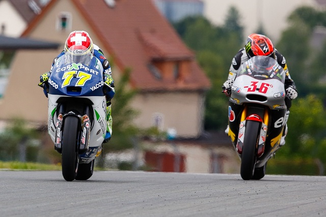 Dominique Aegerter sees off Mika Kallio for his first win - Photo Credit: MotoGP.com