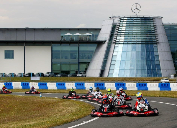 Robertson (#...) Leads The Field - Credit: HSF Brooklands Team Karting Challenge