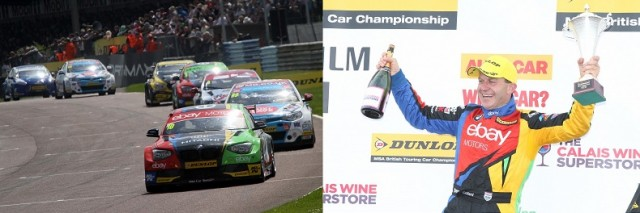 Rob Collard 2014 podium BTCC