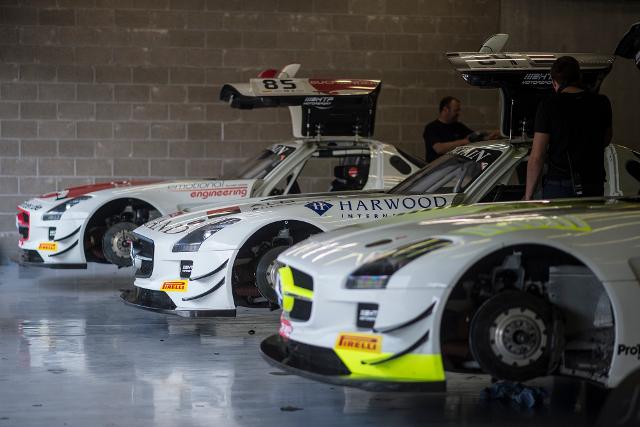 Defending winners HTP Motorsport enter three Mercedes SLS (Credit: Brecht Decancq/Brecht Decancq Photography)