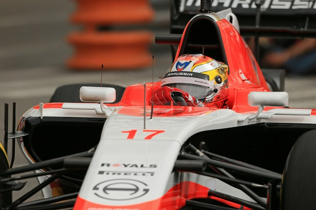 Jules Bianchi took Marussia's first ever points in Monaco (Credit: Octane Photographic Ltd)