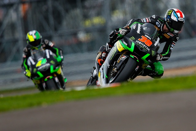 The two Tech 3 Yamahas were circulating together when the incident occured (Photo Credit: MotoGP.com)