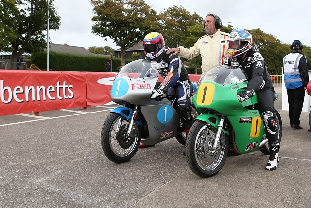 John McGuinness (right) lines up at the Classic TT (Photo Credit: iomtt.com)
