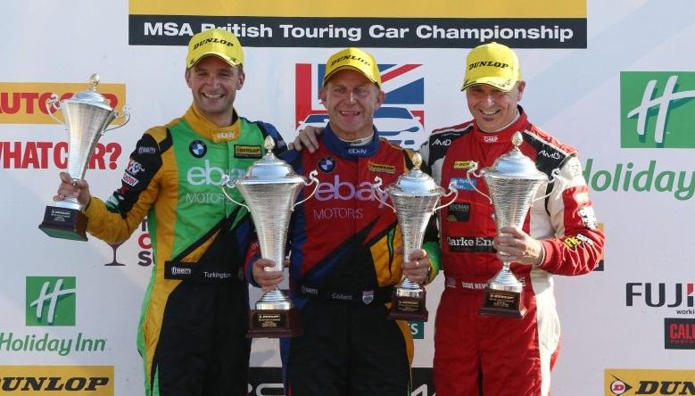 BTCC Knockhill R3 podium