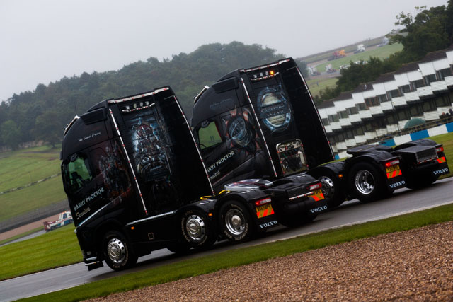 Even the 195 show trucks had to be careful of the weather (Credit: Nick Smith/The Image Team)