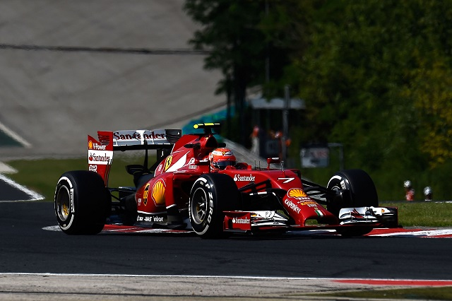 Kimi Raikkonen has often struggled in 2014 but finished sixth in Hungary (Credit: Scuderia Ferrari Media)