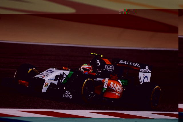 Sergio Perez took Force India's second ever podium in Bahrain (Credit: Sahara Force India Media)