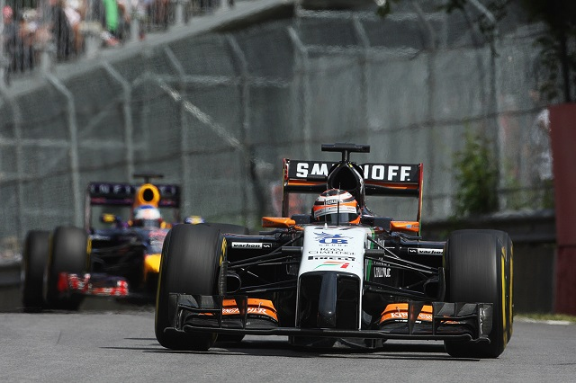 Nico Hulkenberg has scored points in all bar one race in 2014 (Credit: Sahara Force India Media)