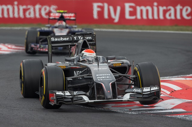 Adrian Sutil has taken the best results for Sauber in 2014 with two twelfths (Credit: Sauber Motorsport AG)