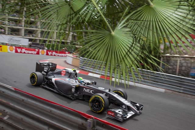 Gutierrez was on course for points in Monaco before crashing out (Credit: Sauber Motorsport AG)