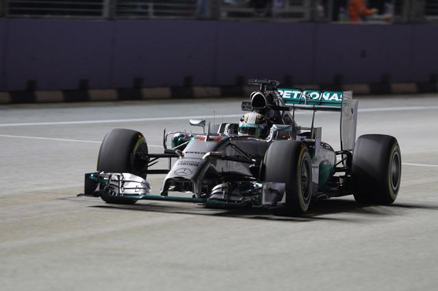 Lewis Hamilton was quickest in FP2 (Credit: Octane Photographic Ltd)