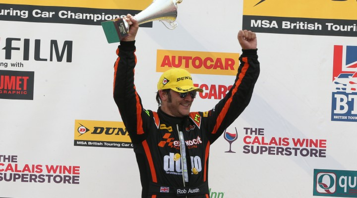 Two podiums went Austin's way (Photo: btcc.net)