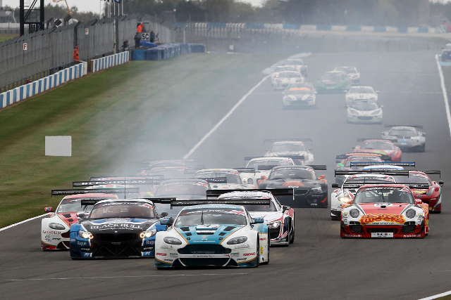 Aston (centre) BMW (left) and Porsche (right_ all played crucial roles in the title decider (Credit: Jakob Ebrey Photography)
