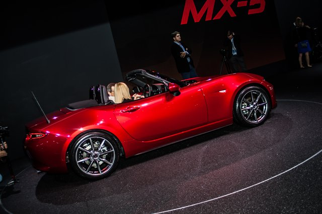 The new Mazda MX-5 launched at Paris and is sure to be a massive seller. (Credit: Nick Smith/The Image Team)