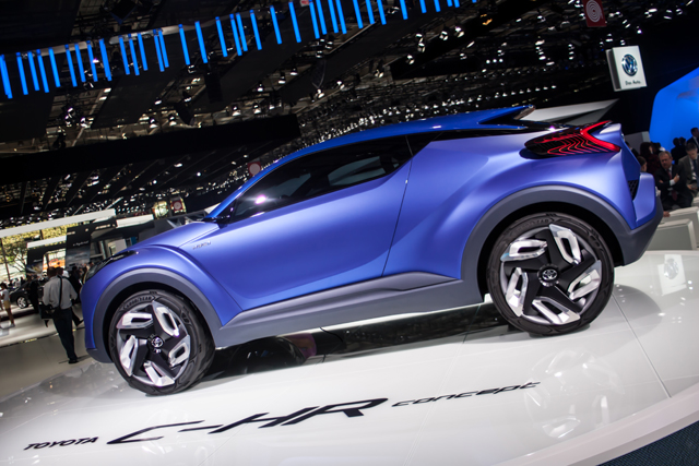 Toyota's C-HR Concept trails an impending crossover model to rival the Nissan Qashqai. (Credit: Nick Smith/The Image Team)