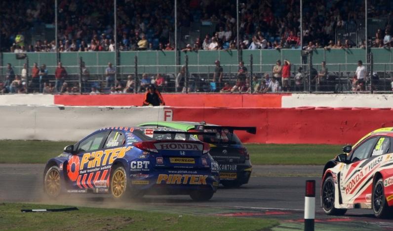 Jordan was part of an enthralling R3 scrap for third (Photo: btcc.net)