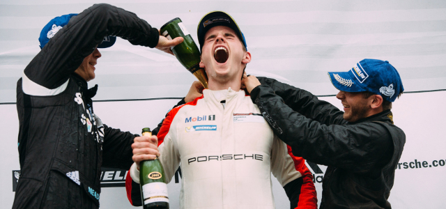 Webster Celebrates One Of His Podium Finishes - Credit: Malcolm Griffiths