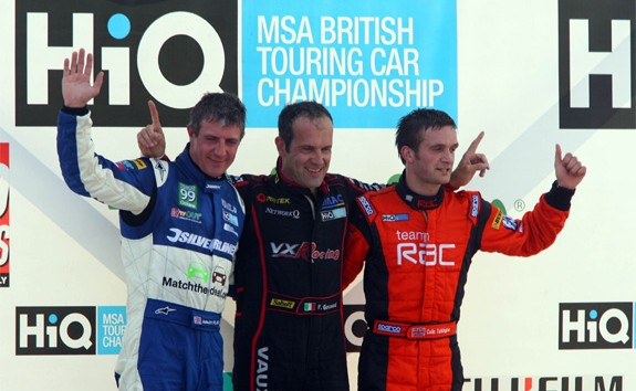 Three drivers - Plato, Giovanardi and Turkington - had entered Brands 2009 with a shout (Pgoto: btcc.net)