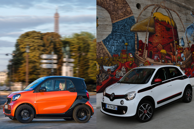 The new smart and Renault Twingo range share platforms. (Credit: smart - Mercedes-Benz Renault - Stephane Foulon/Renault)