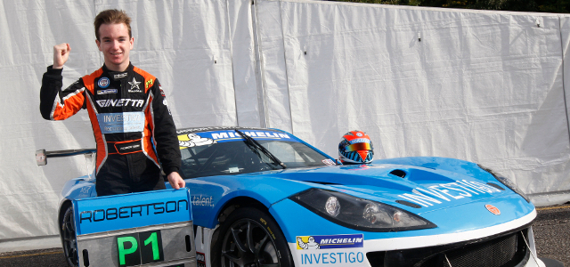 2014 Michelin Ginetta GT4 Supercup Champion Charlie Robertson - Credit: Jakob Ebrey Photography
