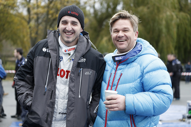 Robert Kubica and Henning Solberg