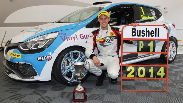 2014 Courier Connections Renault UK Clio Cup Champion Mike Bushell - Credit: Jakob Ebrey Photography