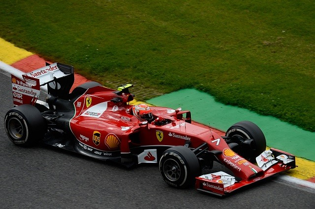 Kimi Raikkonen had his best result of 2014 with fourth at Spa (Credit: Ferrari Media)
