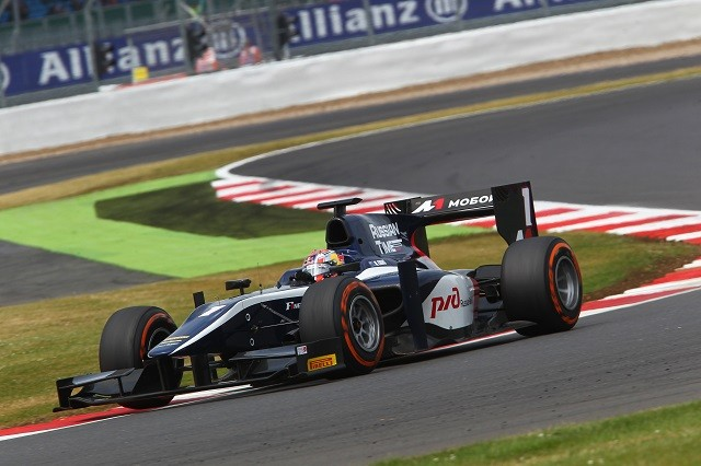 Mitch Evans took two wins for Russian Time, winning at Silverstone and Hockenheim (Credit: Ebrey/GP2 Series Media Service)