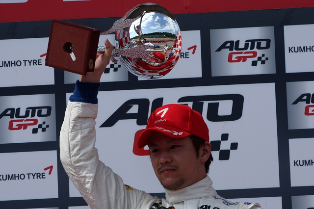 Kimiya Sato won six of the twelve races he raced in during 2014 (Credit: Auto GP Organization S.r.l)