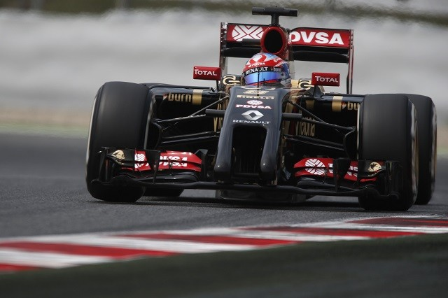Romain Grosjean had his most competitive weekend of the year in Spain (Credit: Andrew Ferraro/Lotus F1 Team)