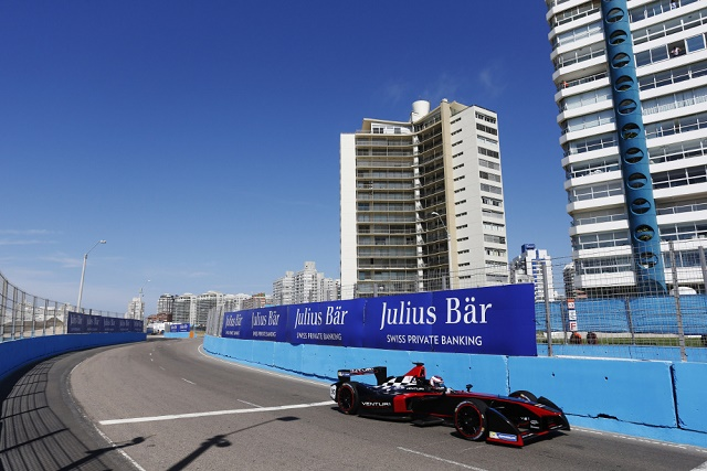 Venturi's Stephane Sarrazin topped the timesheets during today's Punta del Este official test