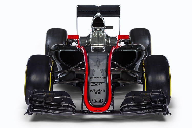 A front view of the McLaren MP4/30 (Credit: McLaren Media Centre)