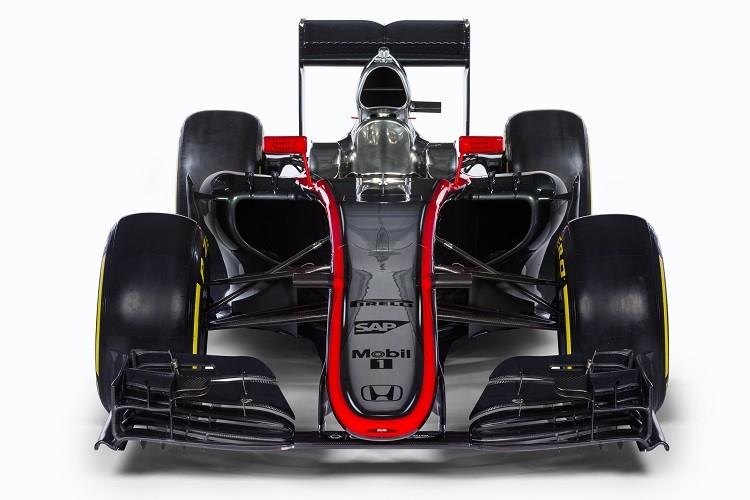 A front view of the McLaren MP4/30 (Credit: McLaren Media Centre)