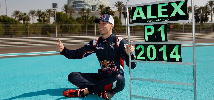 Lynn Was All Smiles In 2014 With His GP3 Success - Credit: Sam Bloxham/GP3 Series Media Service