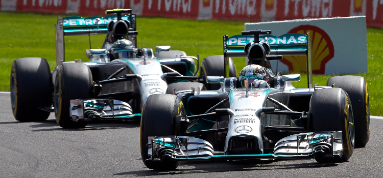 Hamilton And Rosberg Got Too Close For Comfort At Spa - Credit: Mercedes AMG Petronas
