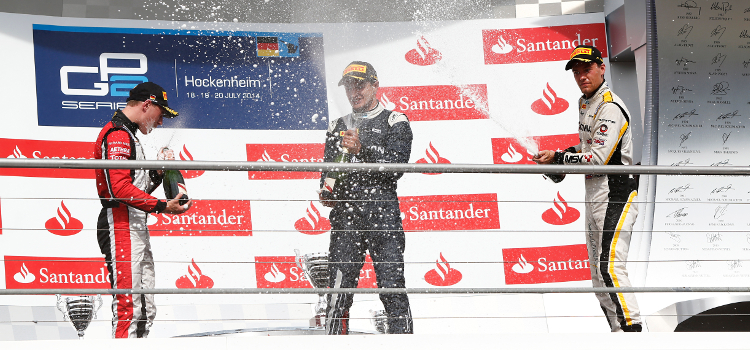 Vandoorne, Evans And Palmer Served Up A Thriller At The Hockenheimring - Credit: Sam Bloxham/GP2 Series Media Service