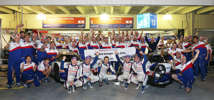 Toyota Won The World Endurance Championship For The First Time - Credit: Toyota Hybrid Racing