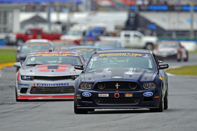 Robin Liddell and team mate Andrew Davis battled the Mustang of Matt and Hugh Plumb to stand on the podium of the BMW Performance 200. (Credit: IMSA.com)