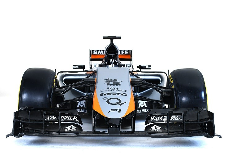 An impression of what the VJM08 will look like was released during the event (Credit: Sahara Force India Media)