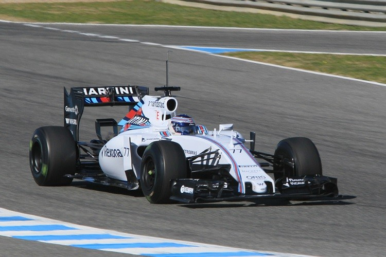 The new Williams made its track debut in Jerez (Credit: Octane Photographic Ltd)