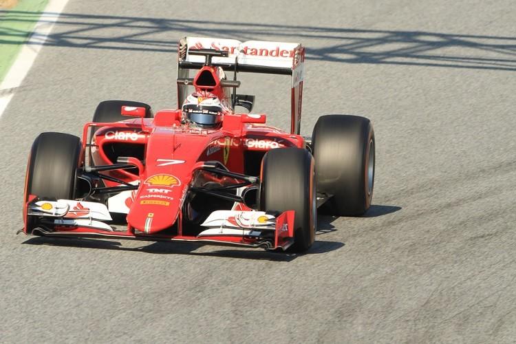 Kimi Raikkonen ended the day with the second best time (Credit: Octane Photographic Ltd)